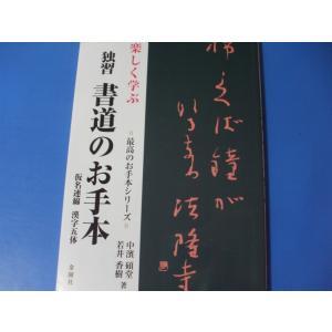 楽しく学ぶ 独習 書道のお手本仮名連綿 漢字五体