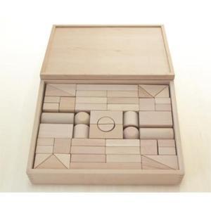 木のおもちゃ 積み木 ブロック 赤ちゃん ベビー だいわ 積木4Aセット(48pcs)|morinokobito