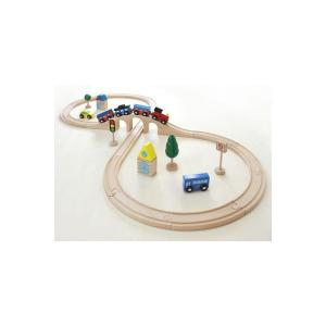 木 おもちゃ レール だいわ 汽車レールセット(スタンダード)|morinokobito