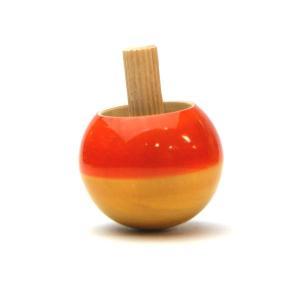 マヤ・オーガニック Flip Top(フリップトップ)オレンジ 逆立ちごま フェアトレード|morinokobito