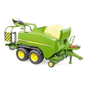 車のおもちゃ 農業トラクター はたらく車 ミニカー BRUDER ブルーダー JD Wラッピングベーラー C441R 02032|morinokobito