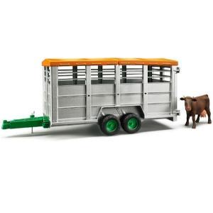 車 おもちゃ BRUDER ブルーダー 畜産業務用トレーラー(フィギュア付き) 02227|morinokobito