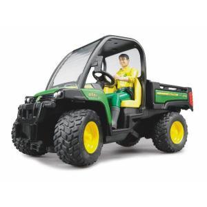 車 おもちゃ 農業 トラクター BRUDER ブルーダー JD ゲーターXUV855D (フィギュア付き) 02490 morinokobito