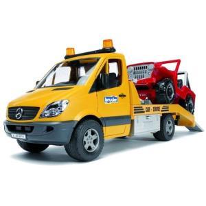 車 おもちゃ はたらく車 BRUDER ブルーダー MBレッカークレーン&クロスカントリー 02535|morinokobito