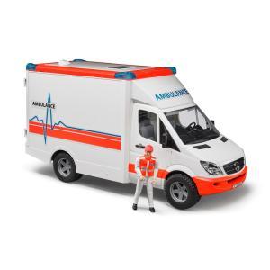 車 おもちゃ はたらく車 BRUDER ブルーダー MB 救急車 (フィギュア付き)02536 morinokobito