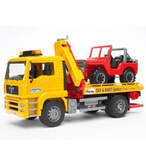 車 おもちゃ はたらく車 BRUDER ブルーダー MAN レッカークレーン&クロスカントリー 02750|morinokobito