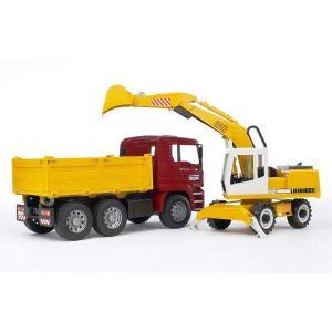 車のおもちゃ BRUDER ブルーダー MAN トラック&LHショベル 02751|morinokobito|02