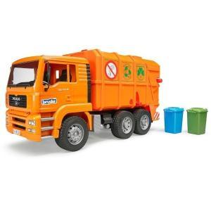 車 おもちゃ はたらく車 BRUDER ブルーダー MAN ごみ収集車 OGANGE 02760|morinokobito