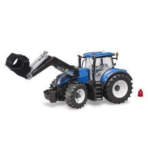 車 おもちゃ 農業 トラクター BRUDER ブルーダー ニューホーランド NH T7.315フロントローダー 03121|morinokobito