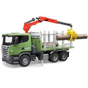車 おもちゃ はたらく車 トラック BRUDER ブルーダー SCANIA ティンバートラック 03524|morinokobito