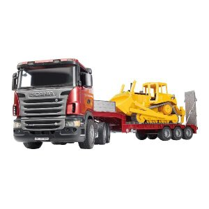 車 おもちゃ トレーラー BRUDER ブルーダー SCANIA トラック&CATブルドーザー 03555|morinokobito