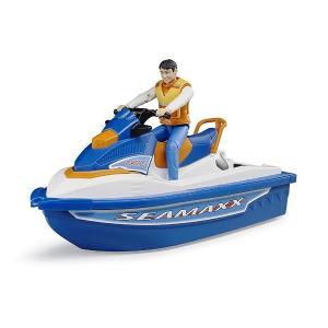 車 おもちゃ BRUDER ブルーダー b-world 水上オートバイク(フィギュア付き) BR63150|morinokobito