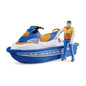 車 おもちゃ BRUDER ブルーダー b-world 水上オートバイク(フィギュア付き) BR63150|morinokobito|02