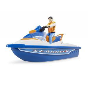 車 おもちゃ BRUDER ブルーダー b-world 水上オートバイク(フィギュア付き) BR63150|morinokobito|04