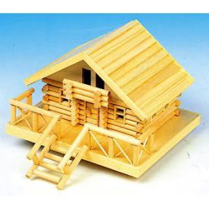加賀谷木材 ログハウスPタイプ 貯金箱 ログハウス北の国シリーズ