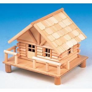 加賀谷木材 ログハウスQタイプ 貯金箱 ログハウス北の国シリーズ