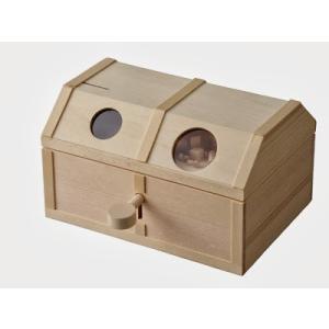 加賀谷木材 カギ付き宝箱 貯金箱|morinokobito