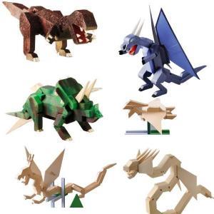 加賀谷木材 恐竜とドラゴン 木工工作キット|morinokobito