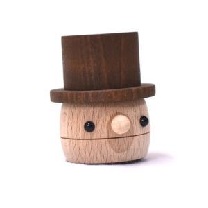 おもちゃのこまーむ どんぐりきのこ(赤)|morinokobito