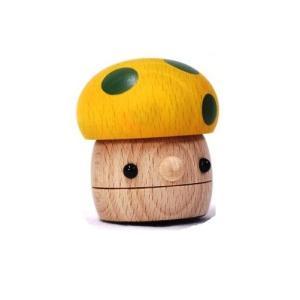 おもちゃのこまーむ どんぐりきのこ(黄色)|morinokobito