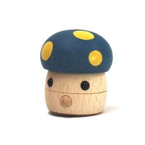 おもちゃのこまーむ どんぐりきのこ(青)|morinokobito