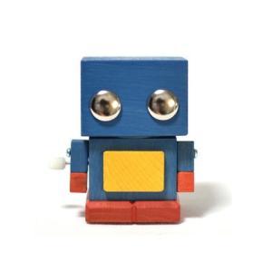 おもちゃのこまーむ ブリ木ロボット(ブルー)01|morinokobito