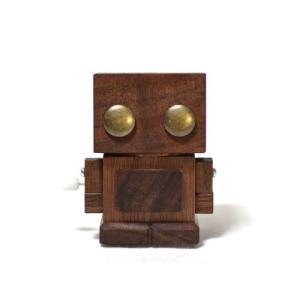 おもちゃのこまーむ ブリ木ロボット(ウォルナット)|morinokobito