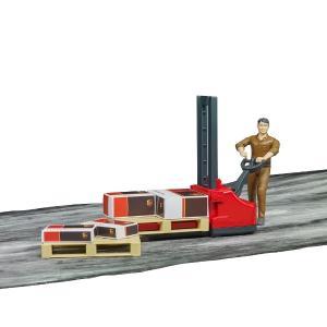 車 おもちゃ BRUDER ブルーダー b-world UPS物流作業員セット リフト機材付き 62210|morinokobito|06