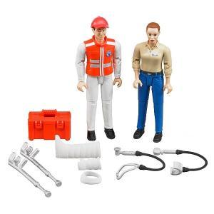車 おもちゃ BRUDER ブルーダー b-world 救急セット(フィギュア付き)62710|morinokobito