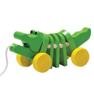 木 おもちゃ Plantoys プラントイ ダンシングアリゲーター 1057|morinokobito