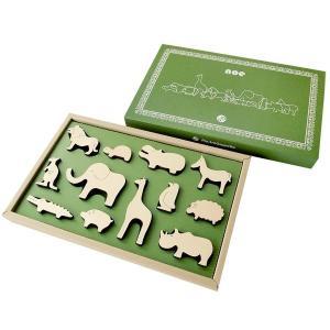 木のおもちゃ 日本製  積み木 動物 マストロジェッペット  noe(ノエ)|morinokobito
