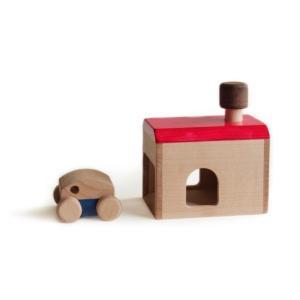 木のおもちゃ 日本製  転がるおもちゃ マストロジェッペット garage(ガレージ)|morinokobito
