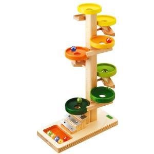 木のおもちゃ スロープトイ BE(べック) トレイクーゲルバーン・レインボー BE20030R morinokobito