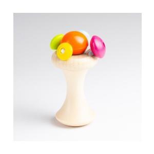 木のおもちゃ ベビー ラトル SELECTA セレクタ カレロ SE61061|morinokobito