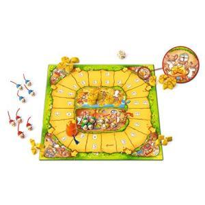 ボードゲーム  商品名:ねことねずみの大レース サイズ:紙製ボード44×44cm セット内容:ねこ×...