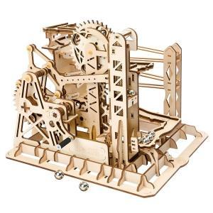 DIY つくるんです! Robotime 3Dウッドパズル コースター手回しマーブルエクスプローラー LG503【日本語説明書付き】 morinokobito