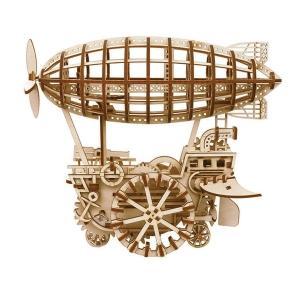 DIY つくるんです! Robotime 3Dウッドパズル 飛行船 LK702 【日本語説明書付き】 morinokobito