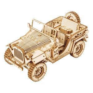 DIY つくるんです! つくろう!3Dウッドパズル オフロードカー MC701【日本語説明書付き】 morinokobito