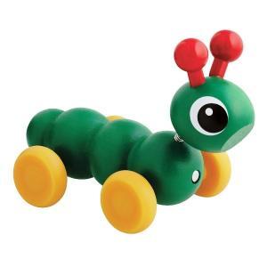木のおもちゃ 押し車 BRIO(ブリオ) ミニイモムシ 30330|morinokobito