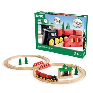 木のおもちゃ レールトイ BRIO(ブリオ)クラシックレール8の字セット33028|morinokobito