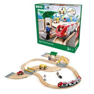 木のおもちゃ 汽車レール BRIO(ブリオ)レール&ロード トラベルセット 33209|morinokobito