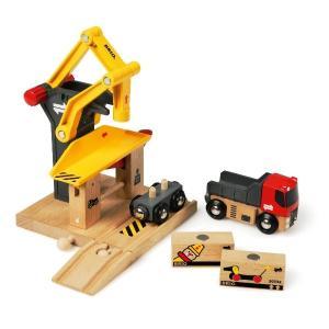 木のおもちゃ レールトイ BRIO(ブリオ)貨物ステーション33280|morinokobito