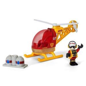 汽車 レール BRIO ブリオ レスキューヘリコプター 33797|morinokobito