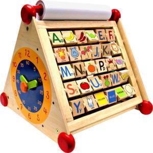 木のおもちゃ 知育玩具 アイムトイ I'm toy 7in1アクティビティセンター|morinokobito