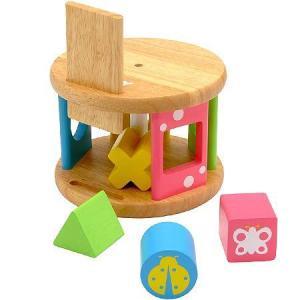 木のおもちゃ 積木 知育 形合わせ エデュテ KOROKOROパズル LA-001|morinokobito