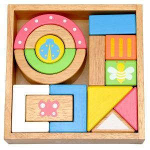 積み木 木のおもちゃ ベビー 10か月 エデュテ SOUND ブロックス LA-002|morinokobito