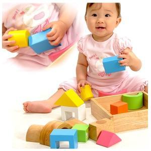 積み木 木のおもちゃ ベビー 10か月 エデュテ SOUND ブロックス LA-002|morinokobito|04