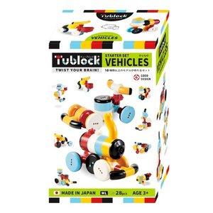 ブロック 知育 Tublock Starter Set Vehicles チューブロックスターターセット ビークルズ TBE-001|morinokobito