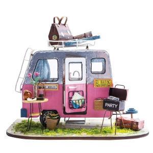DIY つくるんです! ちょっと小ぶりなミニチュアハウスキット ミニハウス キャンプ DGM04【日本語説明書付き】|morinokobito