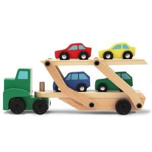 木のおもちゃ 知育玩具 自動車 Melissa&Doug キャリアカー MD4096|morinokobito
